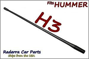 "FITS: 2006-2010 Hummer H3 - 13"" SHORT Custom Flexible Rubber Antenna Mast"