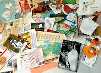 100+ PAPER EPHEMERA pck Antq vntg mdrn DECOPAGE Collage Junk Journal Art  + gift