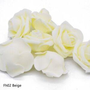 20 pcs Artificial Rose Head For Wedding Party Home Decoration Foam Flowers Decor