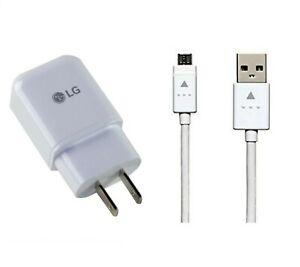 LG OEM Fast Adaptive Wall Adapter + LG  Micro USB For LG Stylo 2/2+/2V/Stylo 3