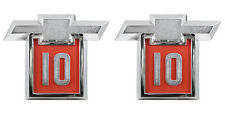 NEW Front Fender Bowtie Emblem PAIR / FOR 1964 CHEVY C10 K10 TRUCK SUBURBAN 9325