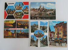 LAUSANNE Schweiz Suisse Lot 5 Ansichtskarten Postkarten mit Helvetia Briefmarken