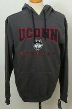 NEW Connecticut Uconn Huskies Colosseum Gray Pullover Sweatshirt Hoodie Men's L