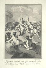 1791 Horace Métamorphoses Jupiter Zeus dieux Assemblée Assembly of Gods cuivre