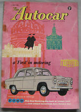 Autocar magazine 1/5/1959 featuring Triumph Herald Coupe road test