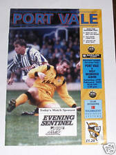 Port Vale -v- West Bromwich Albion 1992-1993