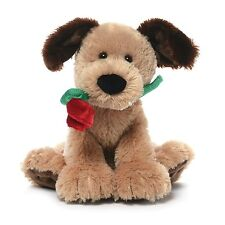 Gund Deangelo Valentine's Day Dog with Rose Stuffed Animal Plush NEW with Tags