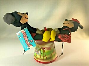 Applause Wind Up Musical Mickey & Minnie Mouse Spinning SEE SAW