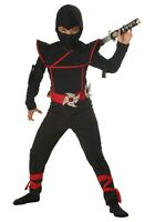 Kids Stealth Ninja Costume Size XL 12-14 (with defect)