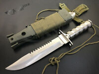 Large Hunting Knife Bowie Sharp Fixed Blade Camping Military Outdoor Survival