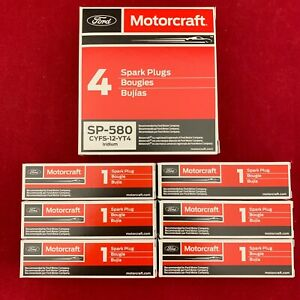 Set of 6: Motorcraft OEM Ford Iridium Spark Plugs SP-534 SP-580 CYFS-12-YT4