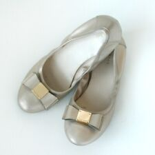 Cole Haan gold bow leather ballet flat 7AA narrow