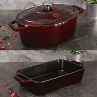 Berlinger Haus Cast Iron Casserole Dish Non-Stick Enamel Coating Oven Induction