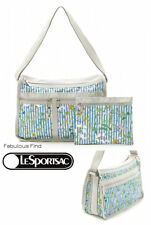 LeSportsac Blossom Garden Deluxe Everyday Crossbody + Cosmetic Bag Free Ship NWT