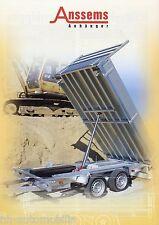 Prospekt Anssems KSX Anhänger 2002 Anhängerprospekt brochure trailer PKWs