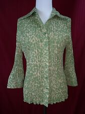 Womens Christopher & Banks Long Sleeved Button Front Shirt Blouse Size Medium