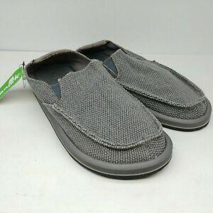 NWT Sanuk Mens Canvas Vagabonded Sidewalk Surfers Slip On Shoe 1015926 CHOOSE SZ