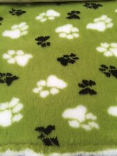 VET letto cani DOG Lenzuola in Pile Letto Lime Verde Duo GOMMA sostenuto 0,75 m X 1.0 m