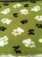 Vet bed chiens chien literie polaire lit vert citron duo caoutchouc adossés 0.75m x 1.0m