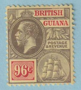 BRITISH GUIANA 201  MINT HINGED OG * NO FAULTS EXTRA FINE!