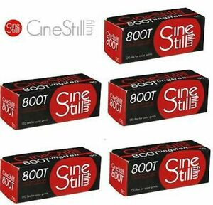 5x CineStill 800T Tungsten Xpro C-41 format 120 MHD 08/2022