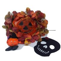 Halloween Pumpkin Light up Jack O' Lantern Hallmark Skeleton Gourd JUNK DRAWER