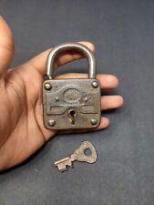 Antique Iron Lock Germany Mola Brand Original Key Padlock Hand Crafted Working