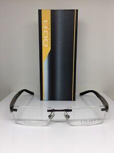 New OGA M. 68920 Rimless Eyeglasses C. GB081 Matte Brown Size: 54mm Made France