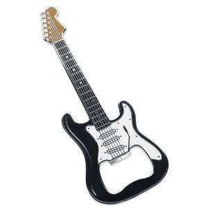 Bottle Opener Guitar Shape Guitar Classic Black Stainless Steel Magnetic