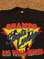 VTG 80's Champs Sports Lounge Las Vegas Casino Shirt Screen Stars Rare Strip