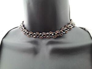 36cm Irridesant Glass Bead Choker Necklace ref:C626