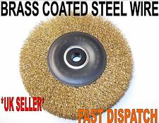 """WIRE WHEEL BRUSH FOR BENCH GRINDER 6"""" 150mm 6000 RPM"""