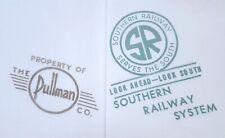 SOUTHERN RAILWAY BED SHEET VINTAGE PULLMAN CO. SLEEPING CAR LINEN TWIN 64x84
