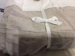 West Elm Belgian Flax Linen Full Bed Skirt NEW Natural Flax