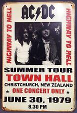 AC DC Highway to Hell Vintage rétro en métal étain signe plaque Home Decor Studio PUB