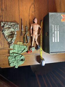 VINTAGE 1964 GI JOE USA Hasbro pat. pend. Action Figure W/ Gun Uniforms Hat Buyo