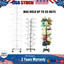 7Tier Hat Cap Display Retail Rotating Adjust. Metal Stand Hanger Rack 2 Types Us