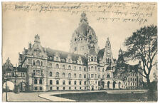 Alte AK Postkarte Deutschland Hannover 1917 gelaufen  mit 2  Briefmarken