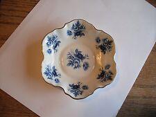 Fine Bone China Nowich England Norfolk Royal Blue Floral Trinket Dish