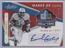 EARL CAMPBELL 2019 PANINI ABSOLUTE MARKS OF FAME AUTO /20 SP OILERS