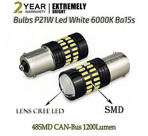 2x Bulbs Reverse 48Smd LED P21W Ba15s White Range Rover Sport Discovery MK3 MK4
