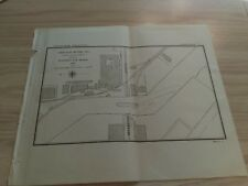 1897 Chicago River Channel Draws at Fullerton Ave. Bridge Illinois Diagram Map