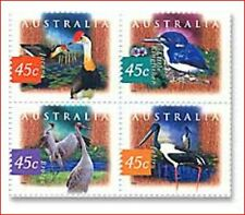 AUS861 Birds of wetlands 4 pcs MNH AUSTRALIA 1997