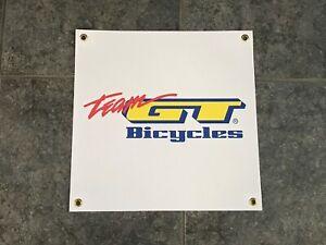 Team GT Bicyclesbanner sign shop wall garage BMX track mountain bike suspension