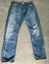PRPS Distressed Jeans Light Wash Japan Selvedge size 36 Button Fly