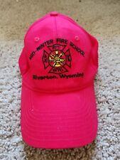Riverton WY Mid-Winter Fire School Firefighter Ball Cap Hat Red 2017