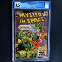 MYSTERY IN SPACE #53 (DC 1959) 💥 CGC 3.5 C-OW 💥 ADAM STRANGE STORIES BEGIN!