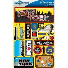 REMINISCE JET SETTERS NEW YORK TRAVEL VACATION 3D DIMENSIONAL SCRAPBOOK STICKERS