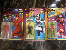 retro marvel legends 3.75 Daredevil Collection - 3 Figures Set New