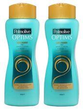 2 Palmolive Optims Shampoo 2 en 1 Anti Caida Rescate Nutri System Vital Keratin